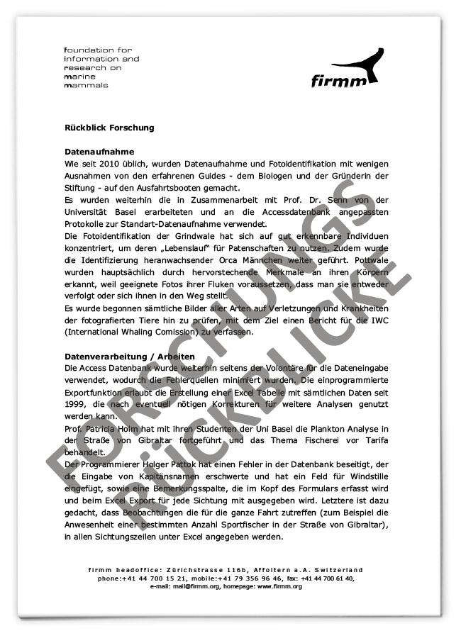 firmm Forschungsberichte 2001 bis 2020